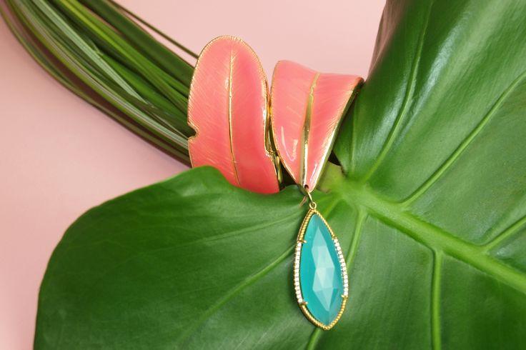Leaf Bracelet with a drop!