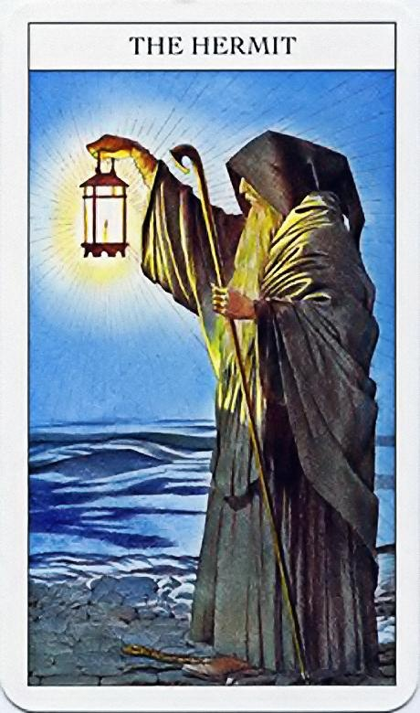 The Hermit Tarot Card Meaning In Readings Isolation: The Hermit - IX - Major Arcana