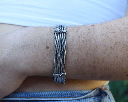 Delicate metal bracelet $19.95 USD  Tribal turquoise & coral bracelet $19.95   #tribalbracelet #gypsyjewelry #hippiejewelry #bohobracelet