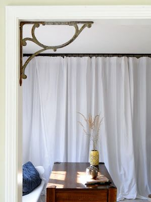 Add Architectural Details to Doorway using vintage shelf brackets