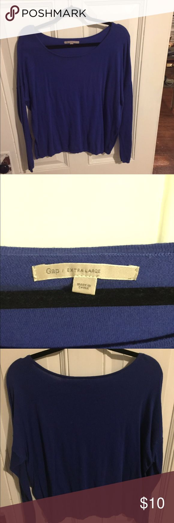 Royal Blue Gap Sweater XL royal blue sweater, great for layering. Size XL. Great condition, ships in 1-2 days. GAP Sweaters Crew & Scoop Necks