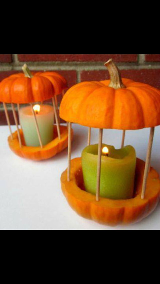 So cute for Halloween! Pumpkin candles | Holidays ...