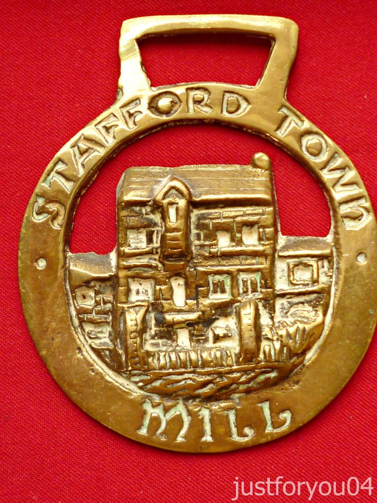 Vintage Solid Horse Brass Stafford Town Mill England (1834) | eBay