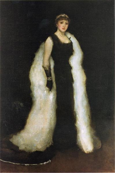 Arrangement In Black James McNeill Whistler Date: 1881.Композиция в черном, 1881 - Джеймс Макнейл Уистлер