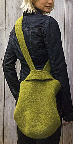 Knitting Pattern Lucy Bag : Lucy Felted Bag..... I LOVE the Lucy bag! Knit one, purl two Pinterest ...
