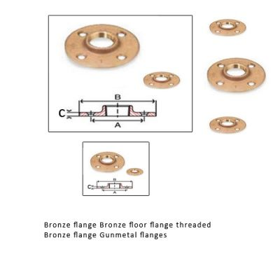 Bronze Floor Flange #BronzeFloorFlange  #BronzeFlanges are cast or forged and machined on CNC turning Centres.  All our Bronze Flanges Bronze floor flanges are made with various high quality Bronze Alloys.
