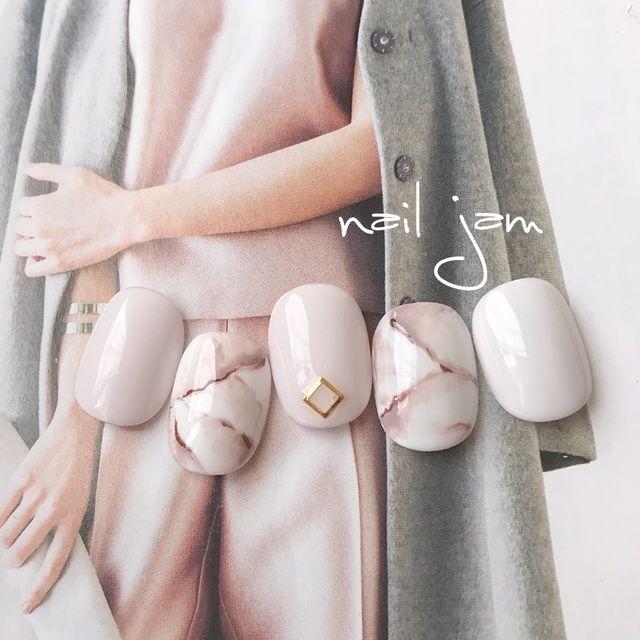 Pinkish-nude marble