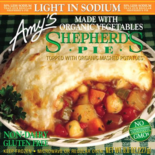 Amy S Shepherd Pot Pie 8 Oz Frozen Meatless Version Of A Long Time Favorite Organic Vegetables In Nourishing Broth Blanketed With Smooth Mashed