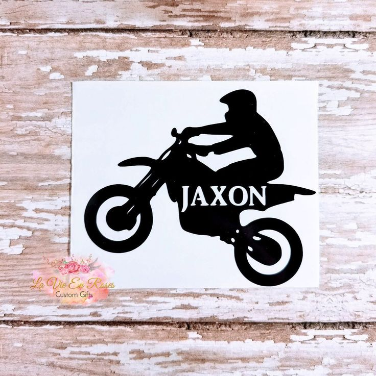 A personal favorite from my Etsy shop https://www.etsy.com/listing/542872967/dirt-bike-decal-racing-decal-motocross