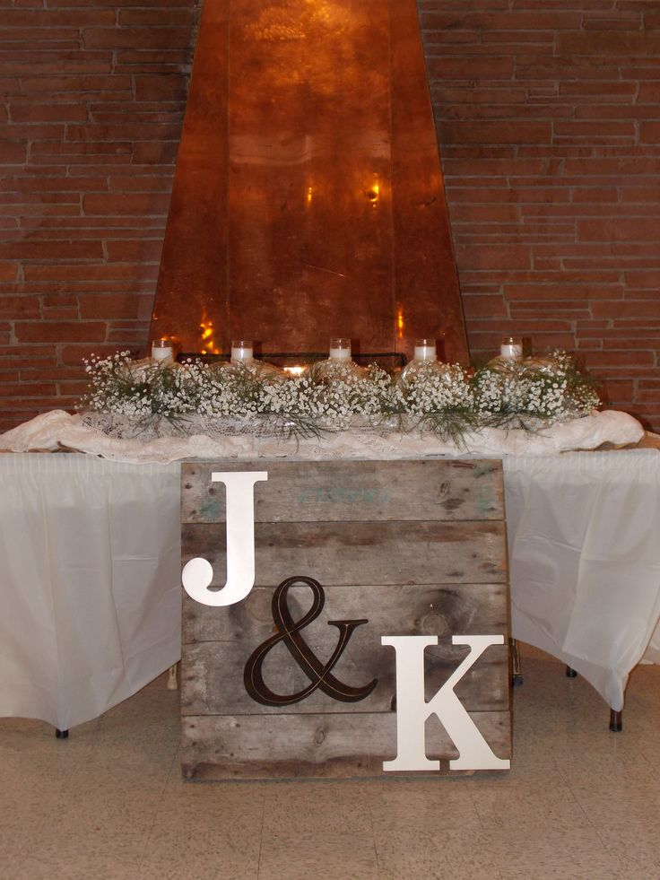 Rustic Wedding Sweetheart Table Double Take Designs