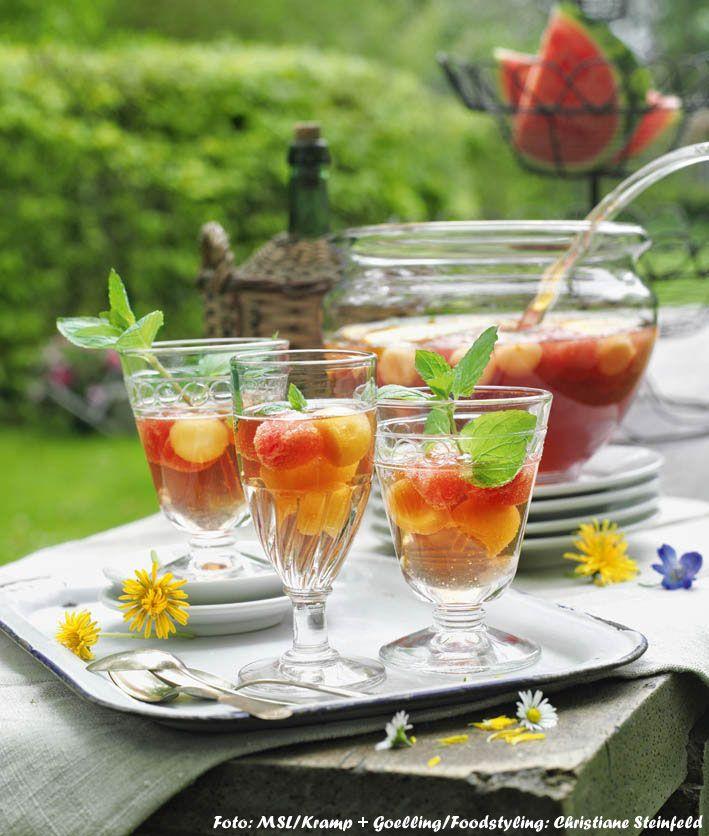 Sommer-Bowle mit Melonen (Foto: MSL/Kramp + Goelling)