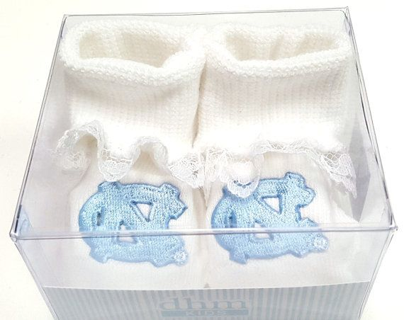 North Carolina UNC Tar Heels Boxed Baby Booties by FutureTailgater