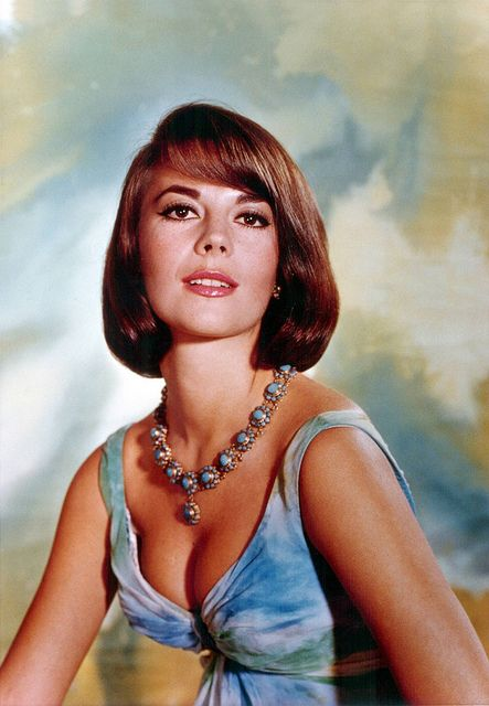 Natalie Wood    A beautiful portrait of Natalie Wood wearing a creation by Grès sometime in the 1960s.