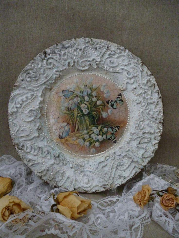 Тарелка «Подснежники» http://dcpg.ru/blogs/3207/ Click on photo to see more! Нажмите на фото чтобы увидеть больше! decoupage art craft handmade home decor DIY do it yourself plate