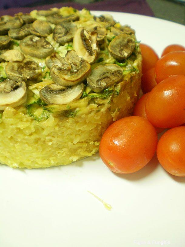 Torta Fácil de Arroz para aproveitar sobras   Blog Figos & Funghis