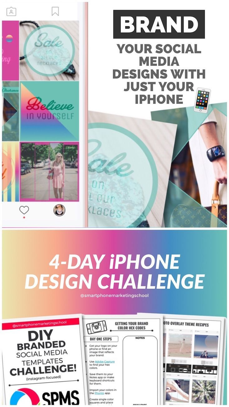It's unbelievable what you can do with your iPhone nowadays. Learn how to create beautifully branded designs for Instagram and social media in this free 4-day challenge.