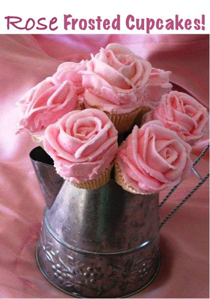 How to Make Pretty Rose Frosting Cupcakes!  #cupcake #recipes