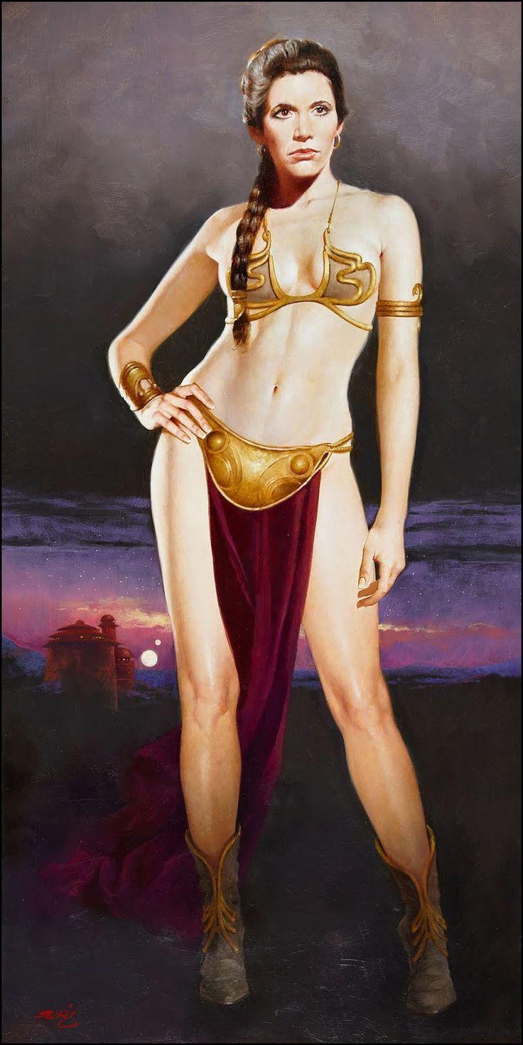 chris achilleos fantasy art   Princess Leia by Enrique Torres, n.d.