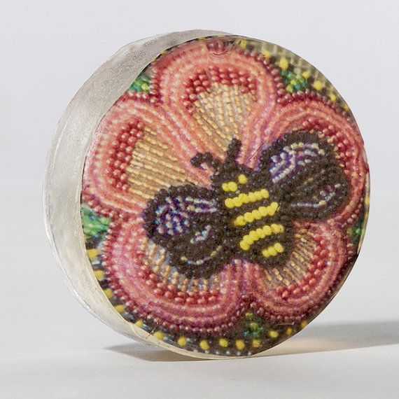 Organic Soap Featuring First Nations Beadwork: Irene