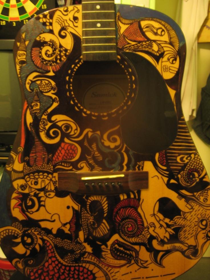 en guitarra