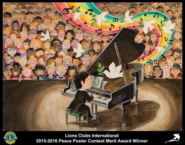 2015-16 Merit Award Winner  Shiju Cui 11 years old China  Sponsored by Qingdao Dongli Lions Club