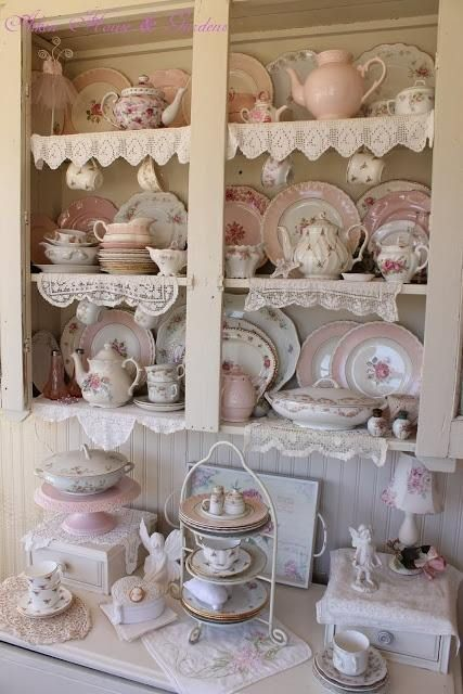 Romantic cottage shabby chic group board pinterest - Vajilla shabby chic ...