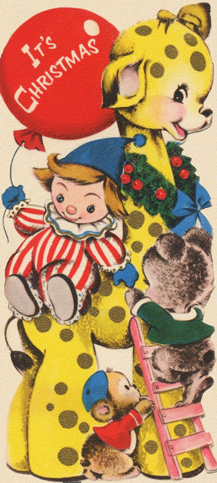 Retro Christmas Toy : Best vintage xmas cards images on pinterest