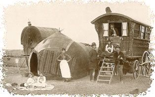 Welsh Gypsy wagon and tent