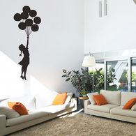 A gorgeous, Banksy-inspired wall sticker to remind you to reach for the stars!