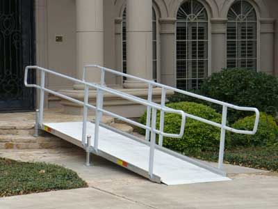 Modular Wheelchair Ramps with Handrails