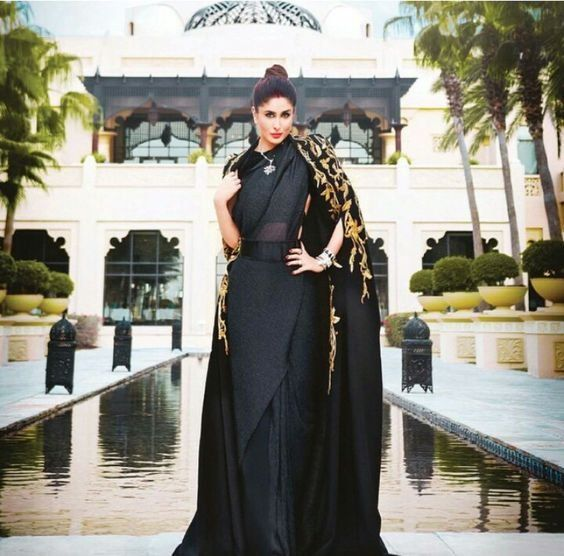 kareena-kapoor-khan-in-designer-cape-with-saree https://ladyindia.com