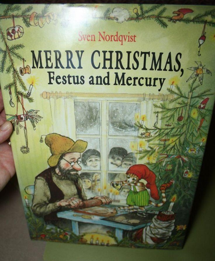 Merry Christmas, Festus and Mercury by Sven Nordqvist (1989, Hardcover)