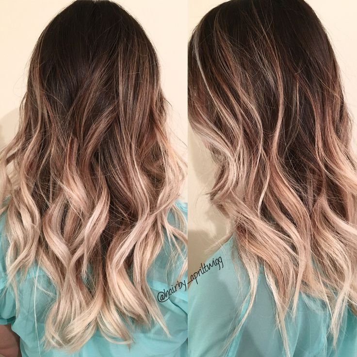 Ombre Dark Root Into Ashy Blonde Ends Brunettes And