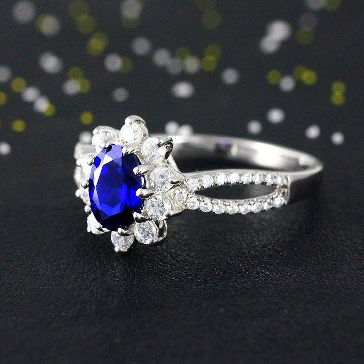 Barato Azul CZ diamante Ringd para as mulheres de ouro cheias de jóias de casamento 925 prata esterlina anéis de noivado melhores amigos acessório feminino, Compro Qualidade Anéis diretamente de fornecedores da China: Anéis de casamento para as mulheres do partido acessórios 925 Sterling Silver rubi imitação Diamond Ring platinadas Anel