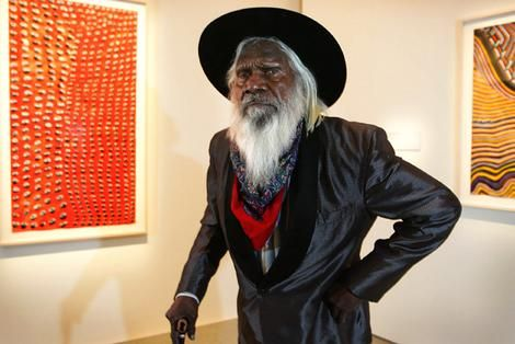 Janangoo Butcher Cherel, one of the Kimberley region's most distinguished artists.