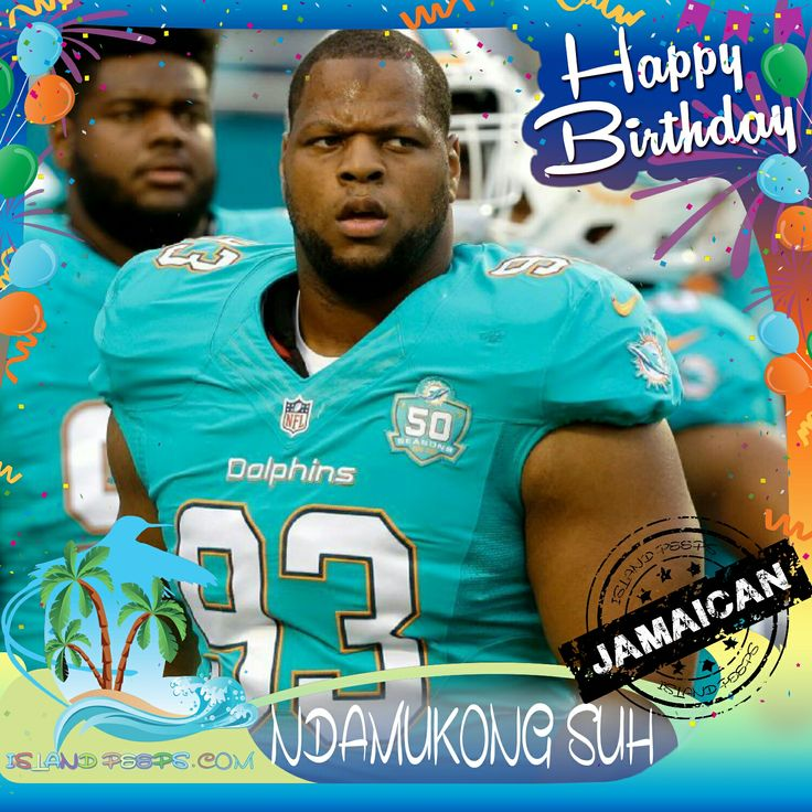 Happy Birthday Ndamukong Suh!!! Pro Football player who plays for the Miami Dolphins was born of Jamaican descent!!! Today we celebrate you!!! @Ndamukong_Suh #NdamukongSuh #islandpeeps #islandpeepsbirthdays #nfl #football #MaimiDolphons #jamaica