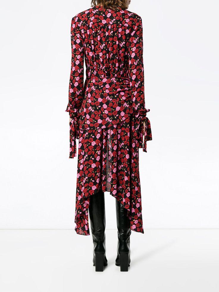 Magda Butrym платье асимметричного кроя с цветочным принтом 'Gela'
