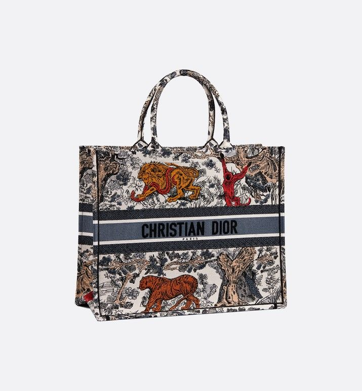 44f182687fa Dior Book Tote Toile de Jouy bag three quarter closed view | Bag ...
