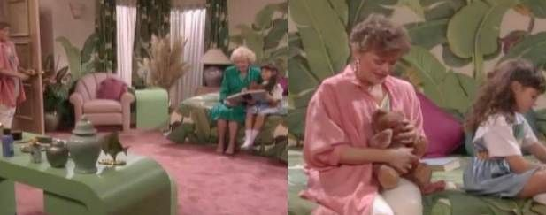 Blanche Devereaux from the timeless show The Golden Girls has a pretty amazing house with classically 80's interior design. Description from bentonartanddesign.com. I searched for this on bing.com/images