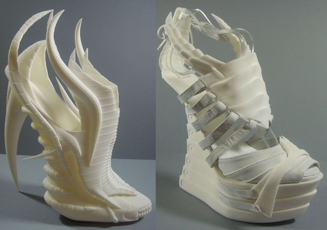Exoskeleton - 3D printed shoes by Janina Alleyne at Coroflot.com