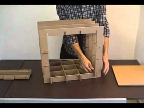 Muebles modulares de cartón que puedes construir tú mismo - YouTube