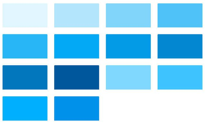 Light Blue Material Design Color Chart Color Design Material