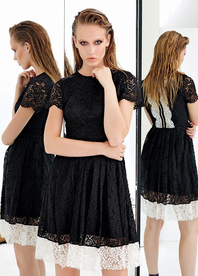 JUS DE POMMES Elbise Markafoni'de 290,00 TL yerine 149,99 TL! Satın almak için: http://www.markafoni.com/product/5909477/  #elbise #moda #dress #girl #fashion #red #black