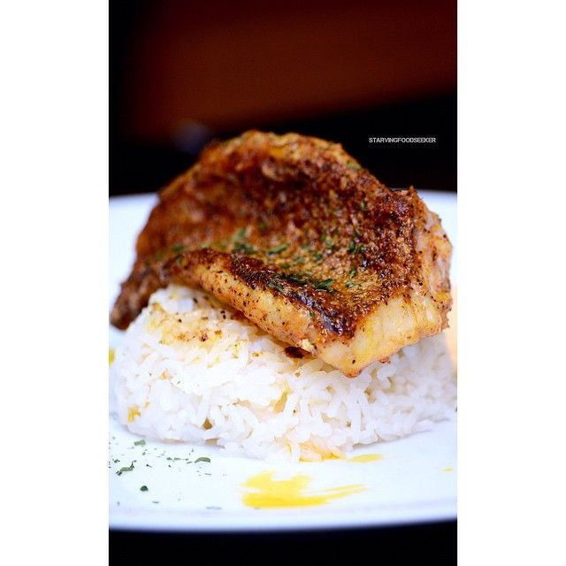 """""""Crispy pan seared red snapper with a brown sugar butter sauce. The red snapper was seasoned with @flavorgod lemon & garlic seasoning, paprika, and pepper.…"""""""