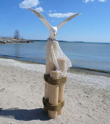 Nautical Wood Cedar Dock Piling 38 Quot Amp Seagull Combo