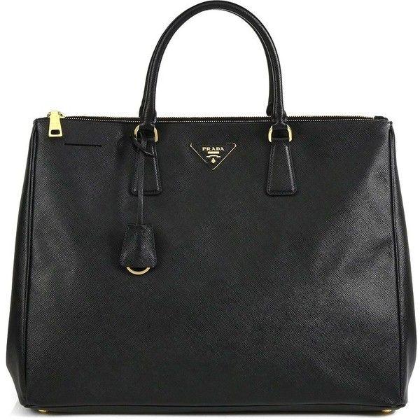 prada bag with chain handle - Prada Large Saffiano Top-Handle Bag ($2,580) ? liked on Polyvore ...
