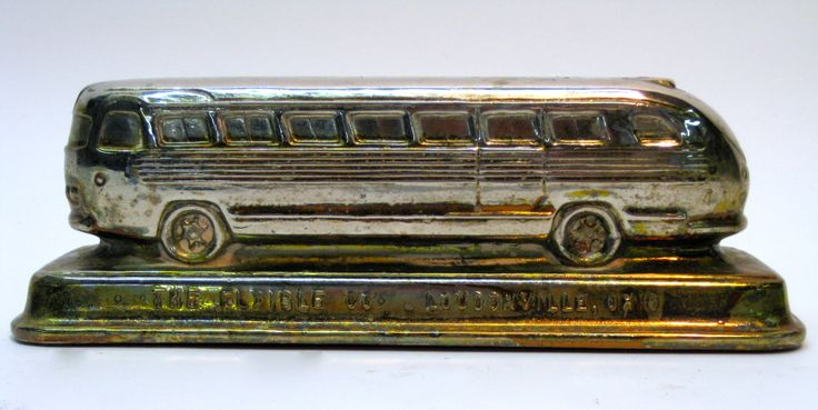 1940s Flexible Clipper Bus Paperweight