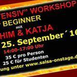 Kizomba Intensiv Workshop für Beginner   KIZOMBA Workshops für Beginner mit ACHIM & KATJA    Kizomba ist ein sehr leidenschaftlicher Tanz aus Angola der sich immer größerer Beliebtheit bei Tänzern erfreut und auf Salsa Partys in Europa unglaublich populär geworden ist!  Verpasst nicht die einzigartige Möglichkeit diesen wunderschönen und hingebungsvollen Tanz bei einem der wenigen zertifizierten Tanzlehrerpaare []  Mehr Salsa Bachata Kizomba Informationen auf salsastisch.de.