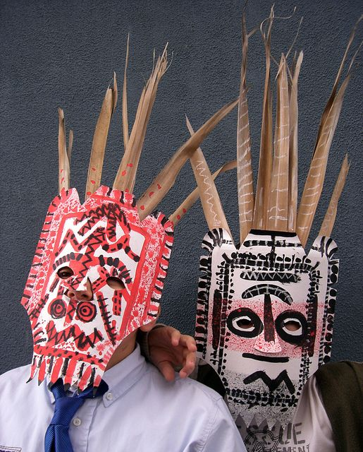 African masks by kids from Fem manuals on Flickr