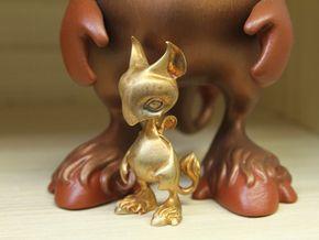 Baby Gryphon figurine 60mm in Raw Bronze